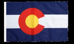 Flagge mit Hohlsaum USA Colorado