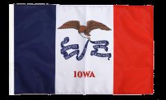 Flagge mit Hohlsaum USA Iowa