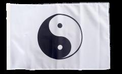 Flagge Ying und Yang, weiß - 30 x 45 cm