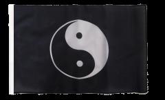 Flagge Ying und Yang schwarz - 30 x 45 cm