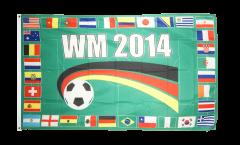 Flagge WM 2014 32 Länder - 90 x 150 cm