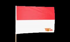 Stockflagge 1.FC Union Berlin rot-weiß