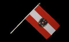 Stockflagge Österreich mit Adler - 30 x 45 cm