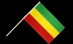 Stockflagge Äthiopien ohne Wappen, Rasta - 60 x 90 cm