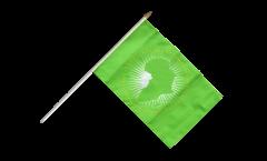 Stockflagge Afrikanische Union AU - 30 x 45 cm