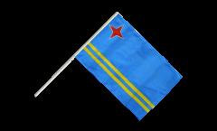 Stockflagge Aruba - 60 x 90 cm