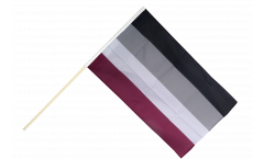 Stockflagge Asexuell - 60 x 90 cm