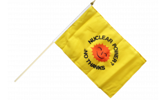 Stockflagge Atomkraft Nein Danke englisch - Nuclear Power No Thanks - 30 x 45 cm