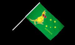 Stockflagge Australien Känguruh