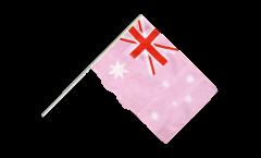Stockflagge Australien Pink