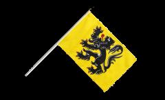Stockflagge Belgien Flandern - 60 x 90 cm
