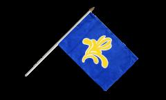 Stockflagge Belgien Hauptstadtregion Brüssel - 30 x 45 cm