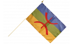 Stockflagge Berber Amazigh - 30 x 45 cm