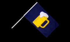 Stockflagge Bier