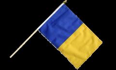Stockflagge Blau-Gold - 30 x 45 cm