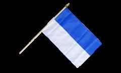 Stockflagge Blau-Weiß