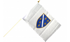 Stockflagge Bosnien alt 1992-1998 - 30 x 45 cm