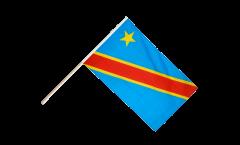 Stockflagge Demokratische Republik Kongo - 60 x 90 cm