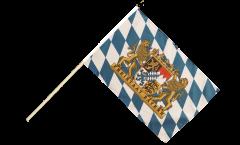 Stockflagge Deutschland Bayern Freistaat - 60 x 90 cm