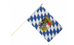 Stockflagge Deutschland Bayern mit Wappen