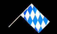 Stockflagge Deutschland Bayern ohne Wappen - 60 x 90 cm