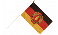 Stockflagge Deutschland DDR Nationale Volksarmee NVA - 30 x 45 cm