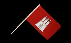 Stockflagge Deutschland Hamburg - 60 x 90 cm