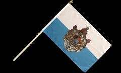 Stockflagge Deutschland Königreich Bayern 1806-1918 - 30 x 45 cm