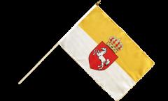 Stockflagge Deutschland Königreich Hannover 1814-1866 - 30 x 45 cm