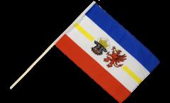 Stockflagge Deutschland Mecklenburg-Vorpommern - 60 x 90 cm