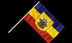Stockflagge Deutschland Mecklenburg alt - 60 x 90 cm