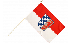 Stockflagge Deutschland Niederbayern - 30 x 45 cm