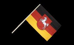 Stockflagge Deutschland Niedersachsen - 60 x 90 cm