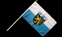 Stockflagge Deutschland Oberbayern - 30 x 45 cm