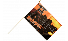 Stockflagge Deutschland Ruhrpott Ruhrgebiet - 30 x 45 cm