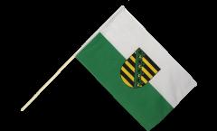 Stockflagge Deutschland Sachsen - 60 x 90 cm
