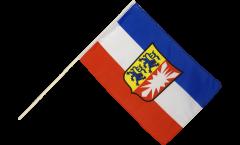Stockflagge Deutschland Schleswig-Holstein - 60 x 90 cm