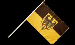Stockflagge Deutschland Stadt Aachen - 30 x 45 cm