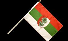 Stockflagge Deutschland Stadt Augsburg - 30 x 45 cm