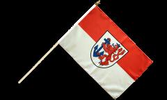 Stockflagge Deutschland Stadt Düsseldorf - 30 x 45 cm