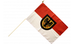 Stockflagge Deutschland Stadt Dortmund - 30 x 45 cm