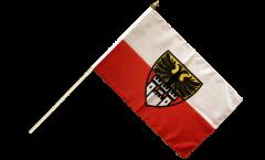 Stockflagge Deutschland Stadt Duisburg - 30 x 45 cm
