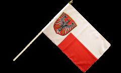 Stockflagge Deutschland Stadt Frankfurt - 30 x 45 cm