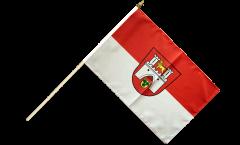 Stockflagge Deutschland Stadt Hannover - 30 x 45 cm