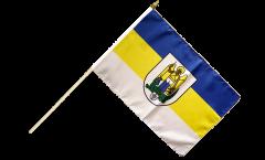 Stockflagge Deutschland Stadt Jena - 30 x 45 cm