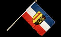 Stockflagge Deutschland Stadt Mannheim - 30 x 45 cm
