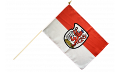 Stockflagge Deutschland Stadt Wuppertal - 30 x 45 cm