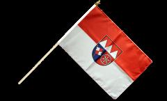 Stockflagge Deutschland Unterfranken - 30 x 45 cm
