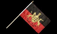 Stockflagge Deutschland Württemberg 2 - 30 x 45 cm