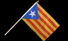 Stockflagge Estelada blava Katalonien - 30 x 45 cm